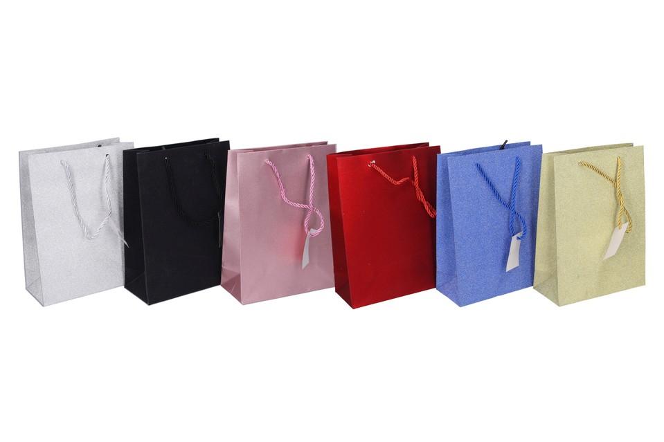 Darčeková taška 24x18x8cm - strieborná