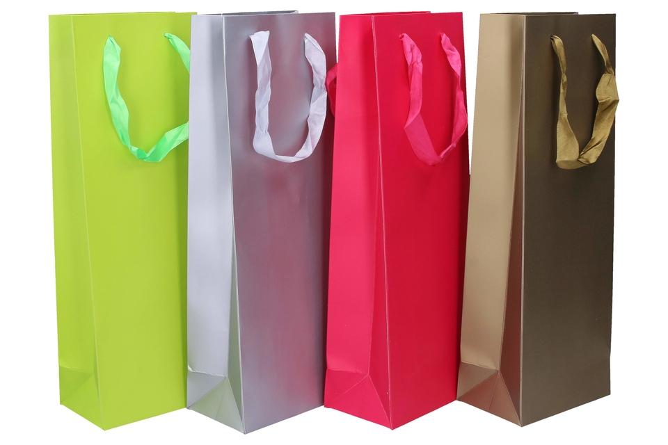 Darčeková taška 35,5x12,8x8,4cm - strieborná