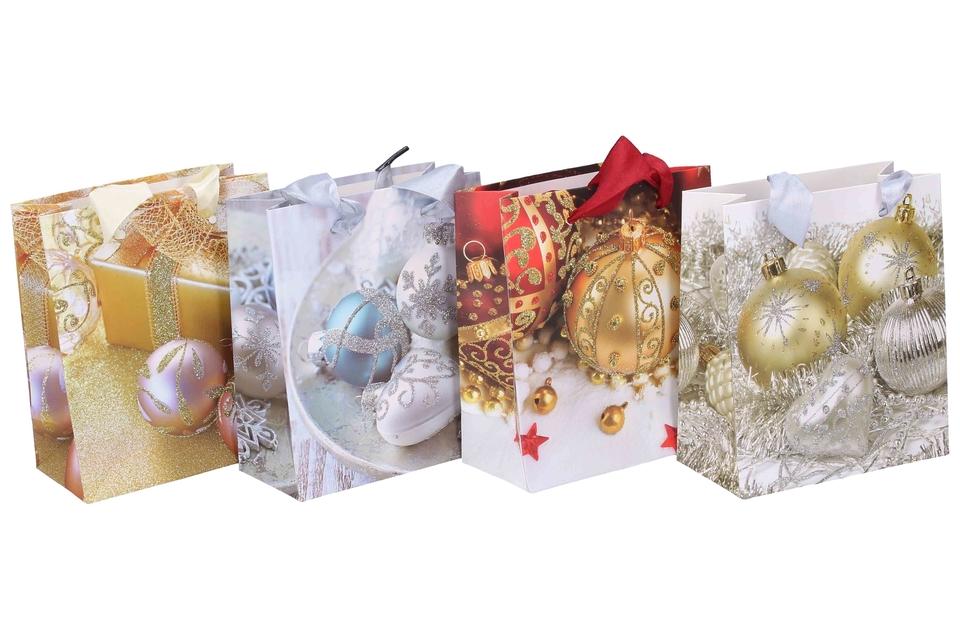Vianočná darčeková taška 12x14x6cm