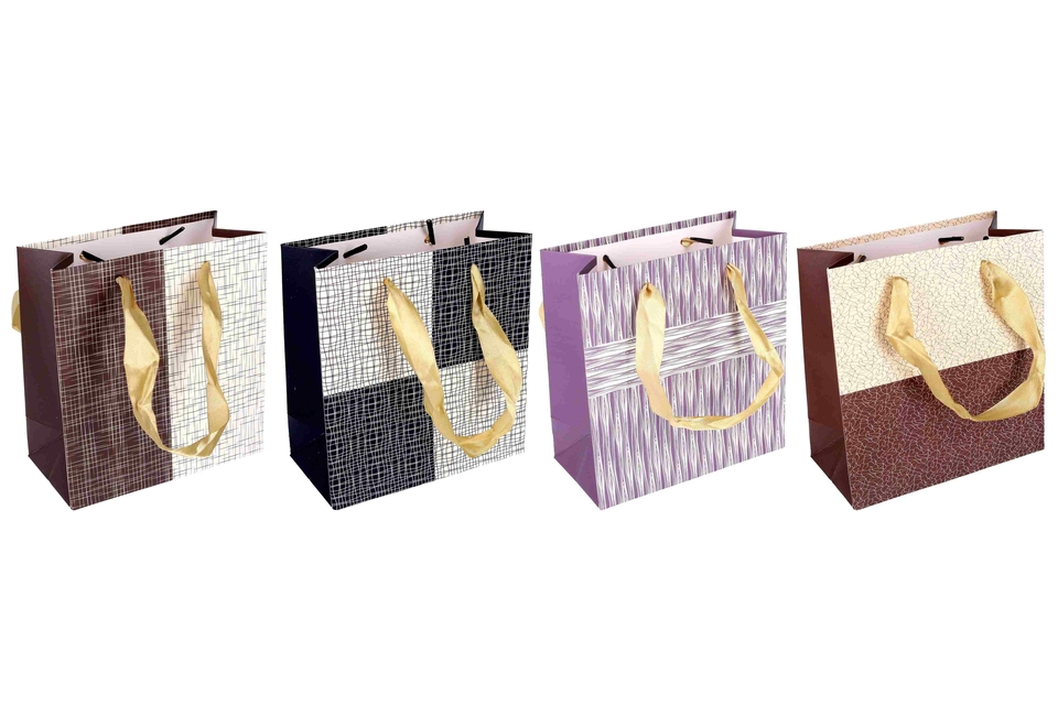 Darčeková taška čiary a tvary 14x7x15cm