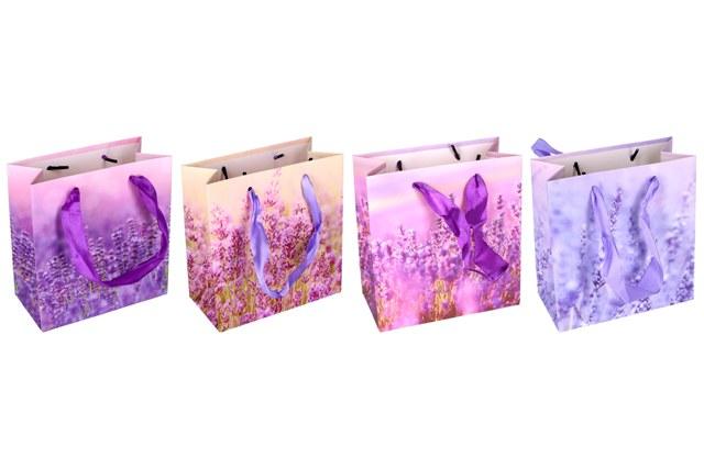 Darčeková taška levanduľa 14x7x15cm