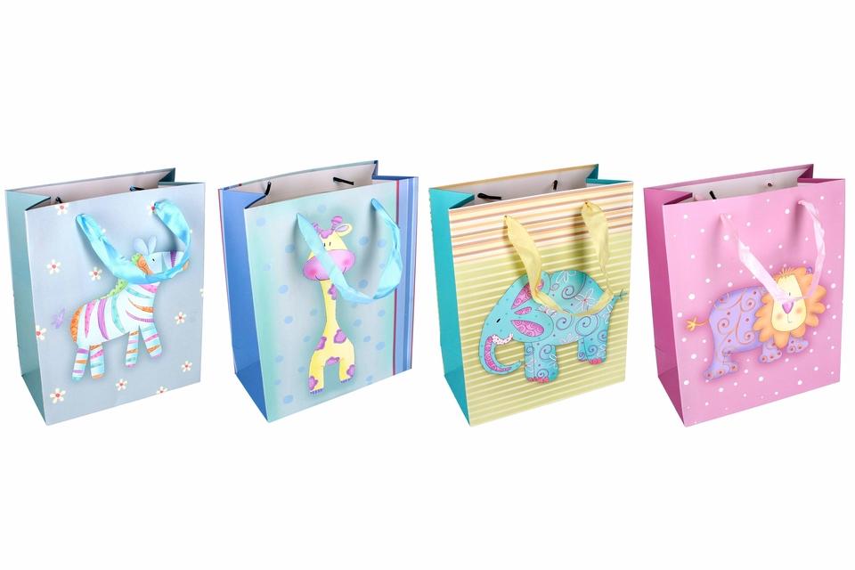Darčeková taška zvieratká 18,5x23x9,5cm