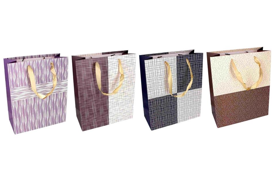 Darčeková taška čiary a tvary 26x12x32cm