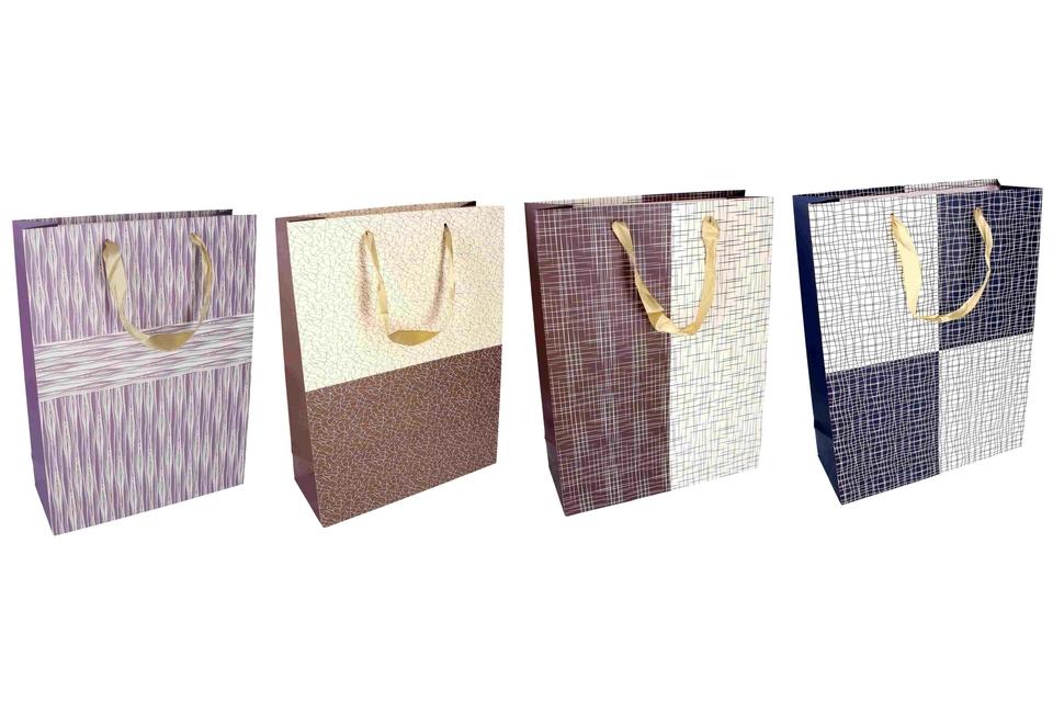 Darčeková taška čiary a tvary 30x12x40cm