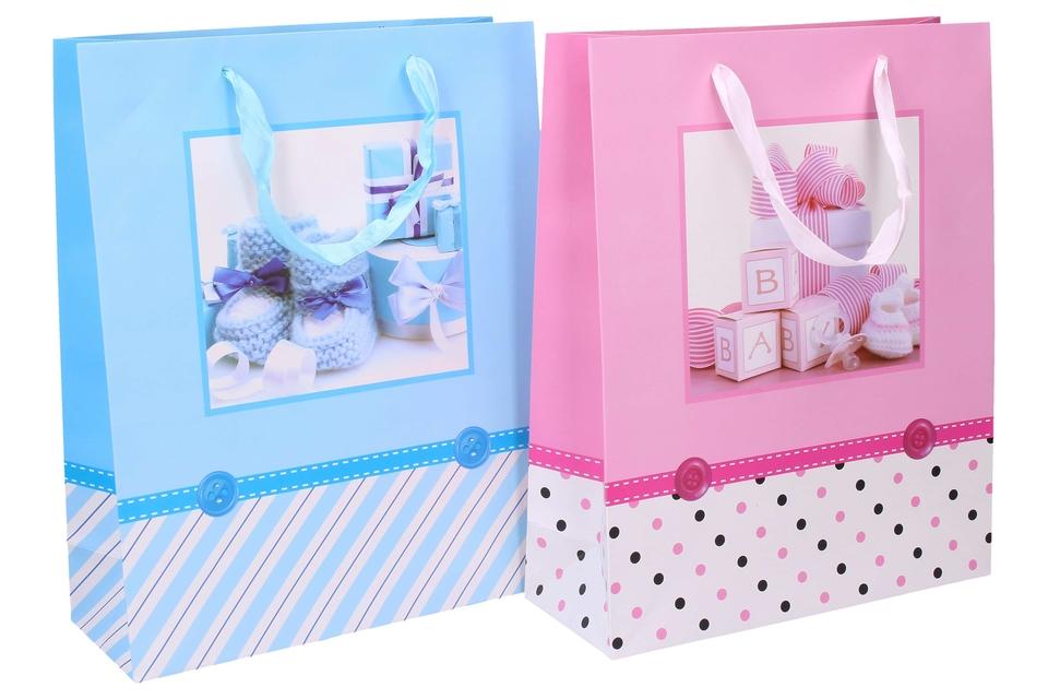 Darčeková taška 32x26x10cm - modrá