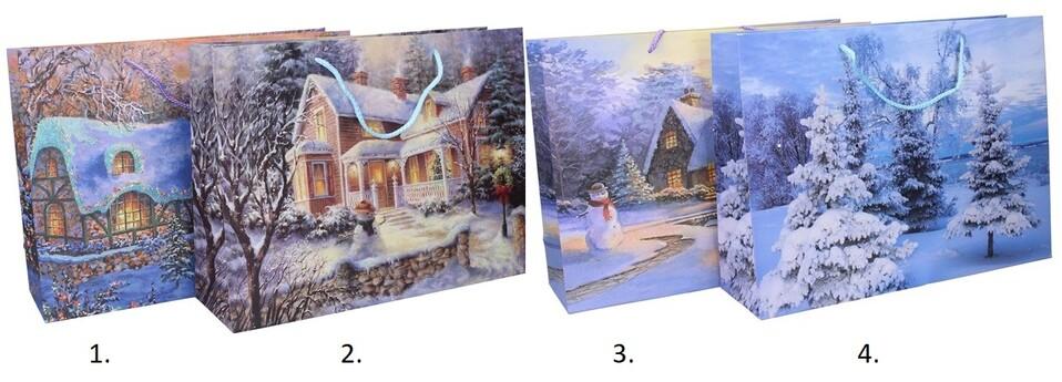 Vianočná darčeková taška 40x30x12cm