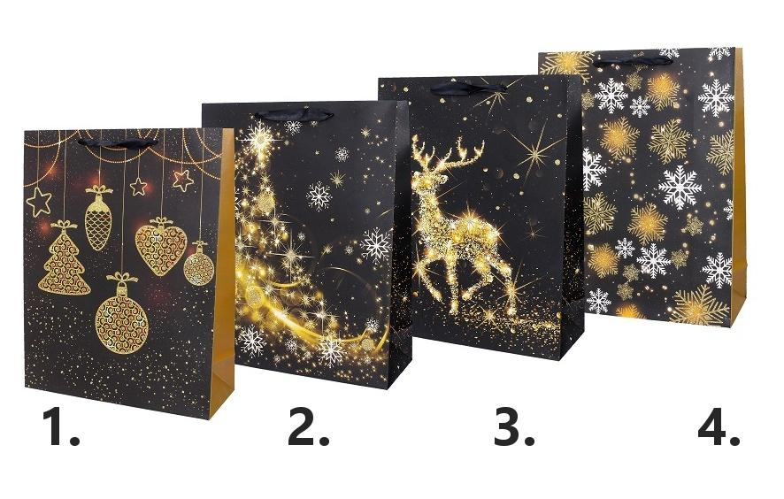 Darčeková vianočná taška 39x30x12cm