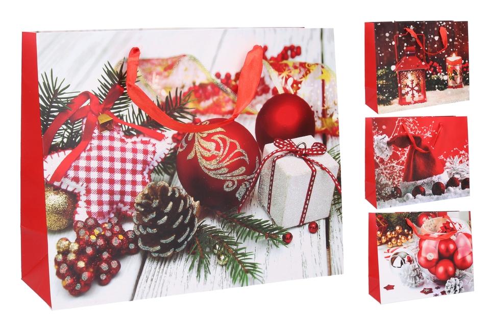 Vianočná darčeková taška32x26x10cm