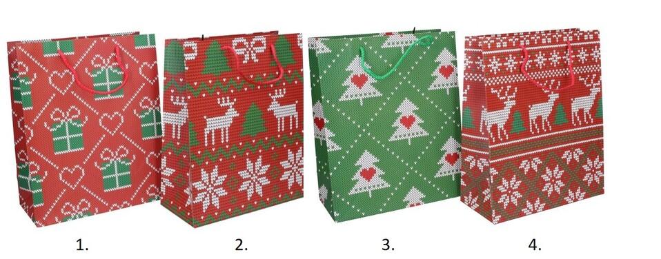 Vianočná darčeková taška 32x26x12cm