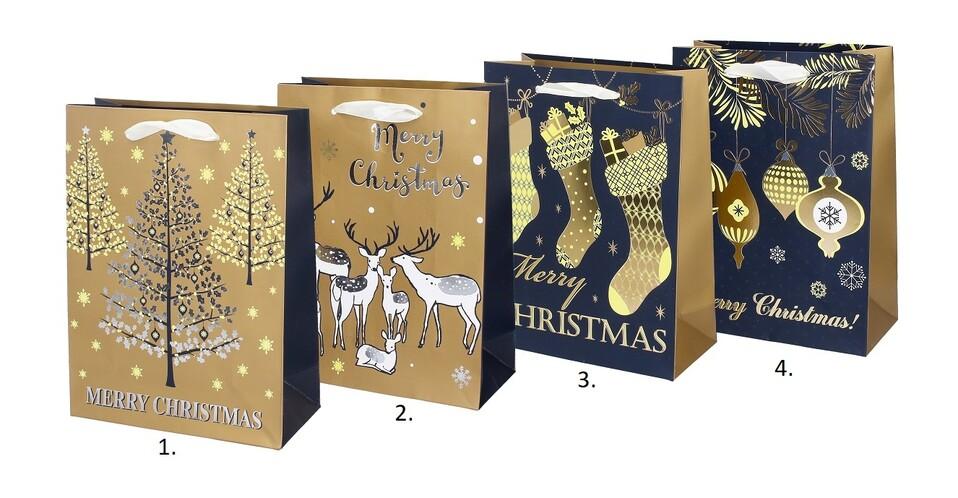 Darčeková vianočná taška 23,5x17,5x8cm