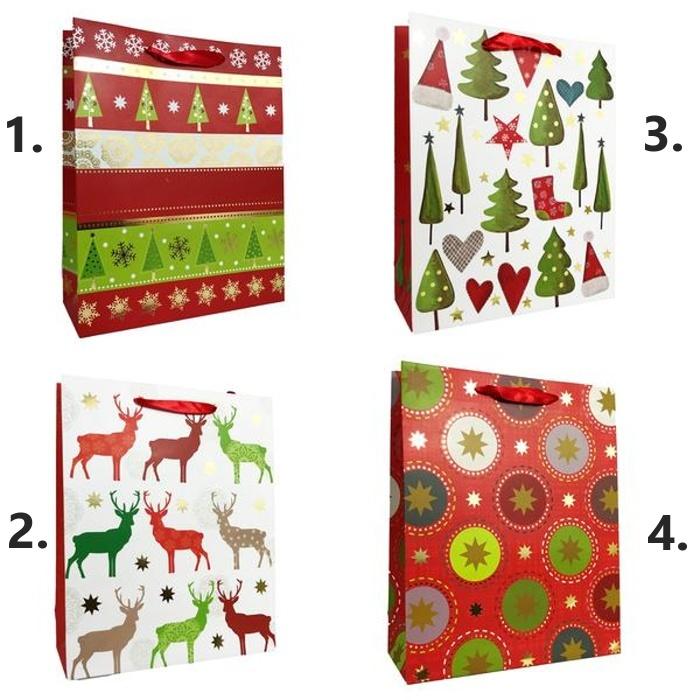 Vianočná darčeková taška 32x25x11cm
