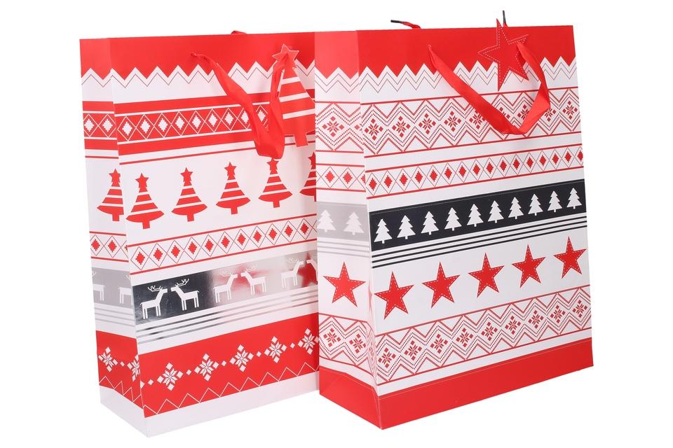 Vianočná darčeková taška 39x30x12cm