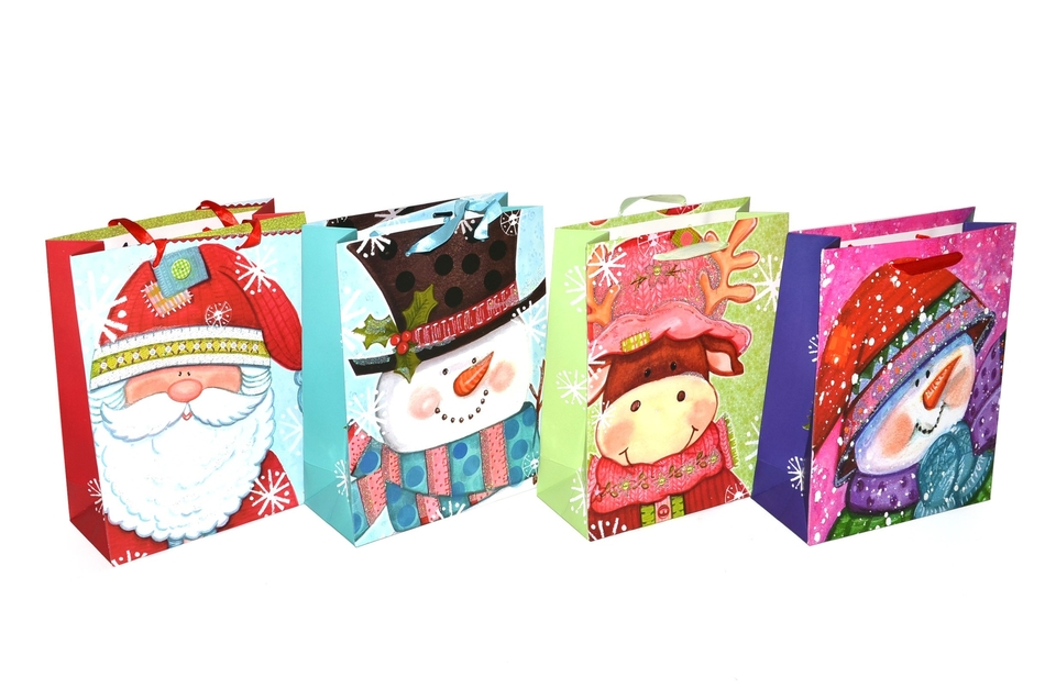 Darčeková taška Vianočná 18x23x10 cm