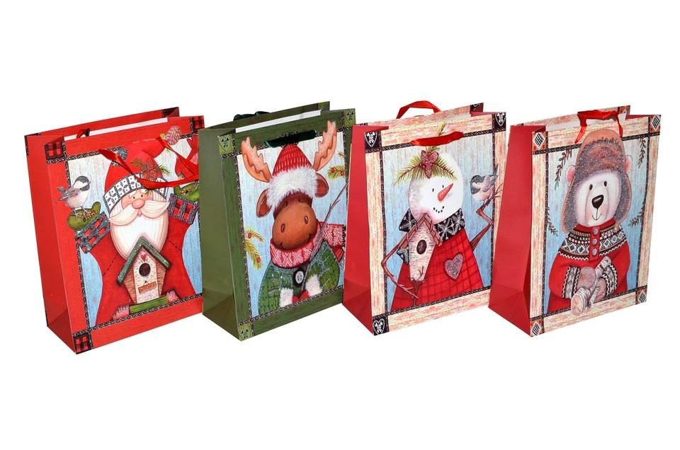 Darčeková taška Vianočná 18x23x8 cm