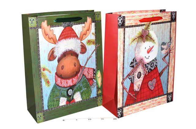 Darčeková taška vianočná 30x40x12cm