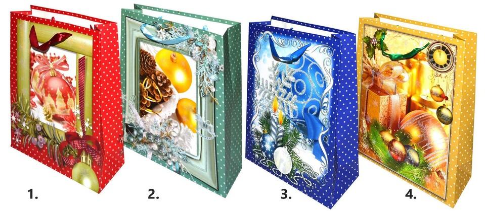 Vianočná darčeková taška 32x26x10 cm