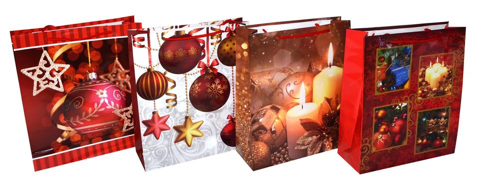 Vianočná darčeková taška 32x26x9 cm