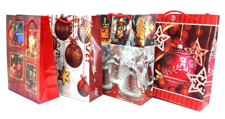 Vianočná darčeková taška 18x24cm