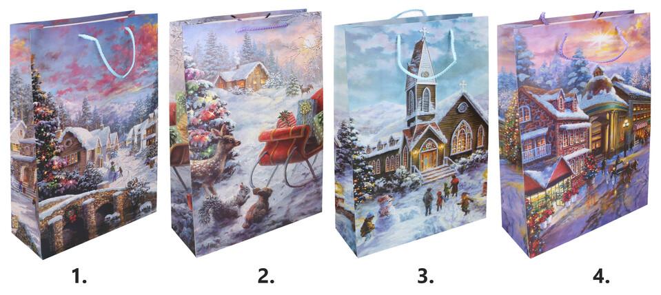 Darčeková taška Vianočná 30x44x12cm