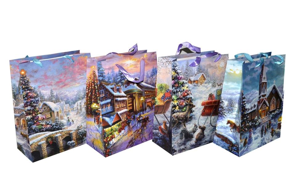 Vianočná darčeková taška 31x25x12cm