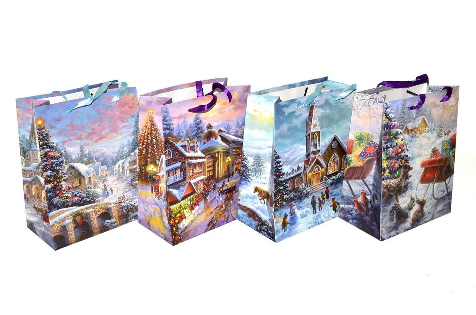 Vianočná darčeková taška 23x18cm