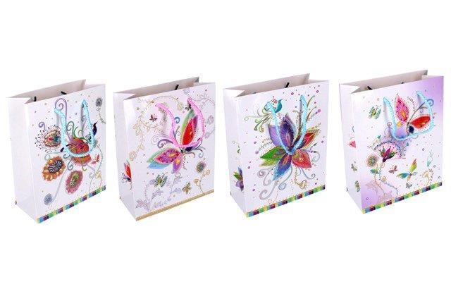 Darčeková taška Motýľ 18x23x8cm