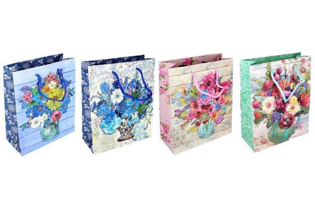 Darčeková taška Kvety 18x23x8cm