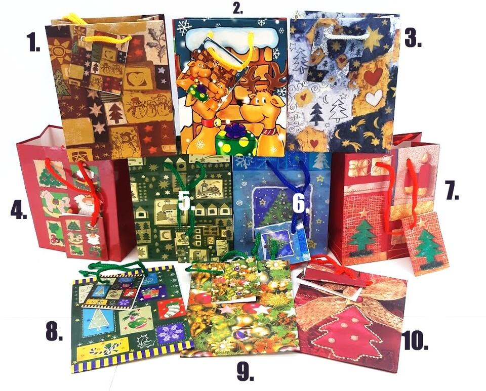 Vianočná darčeková taška 13x11x5cm
