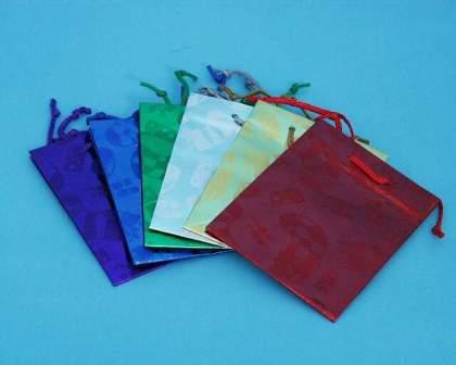 Vianočná darčeková taška 11x6x14 cm