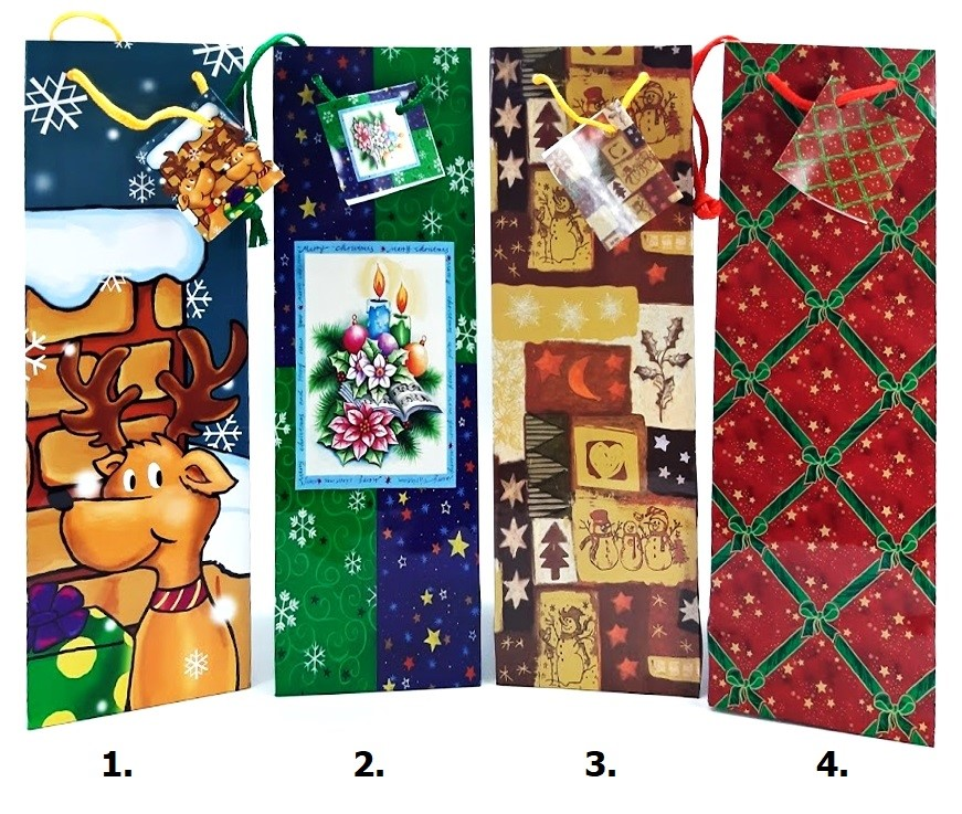 Vianočná darčeková taška 32x10x9cm