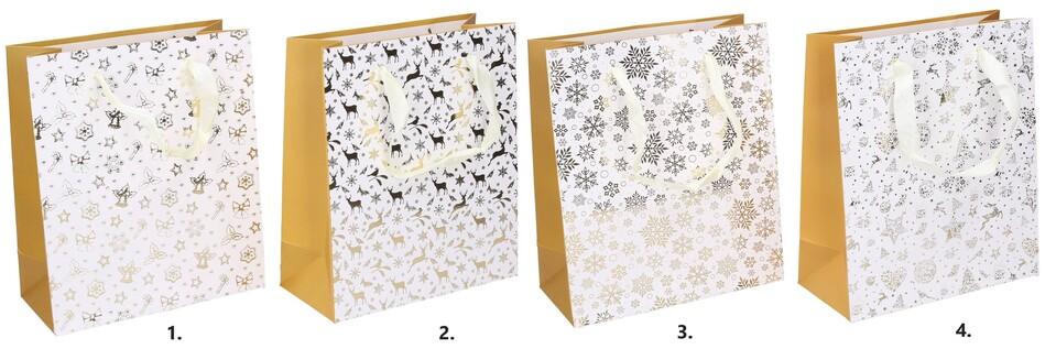 Vianočná darčeková taška 18x21x8,5cm