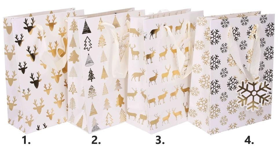 Vianočná darčeková taška23,5x17,5x8cm
