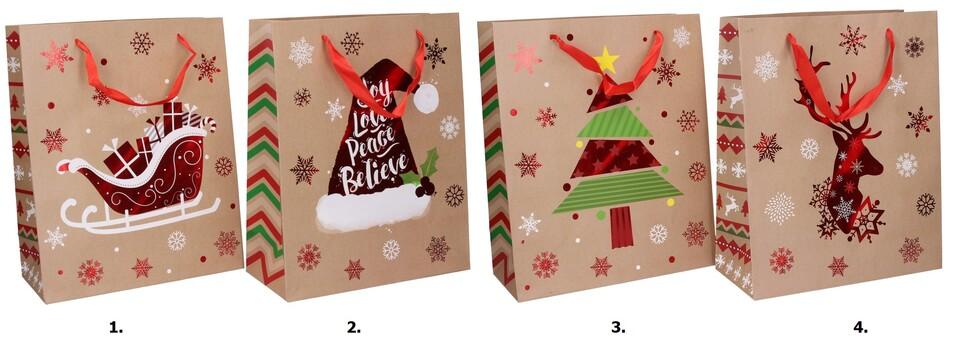 Vianočná darčeková taška 32x26x10cm