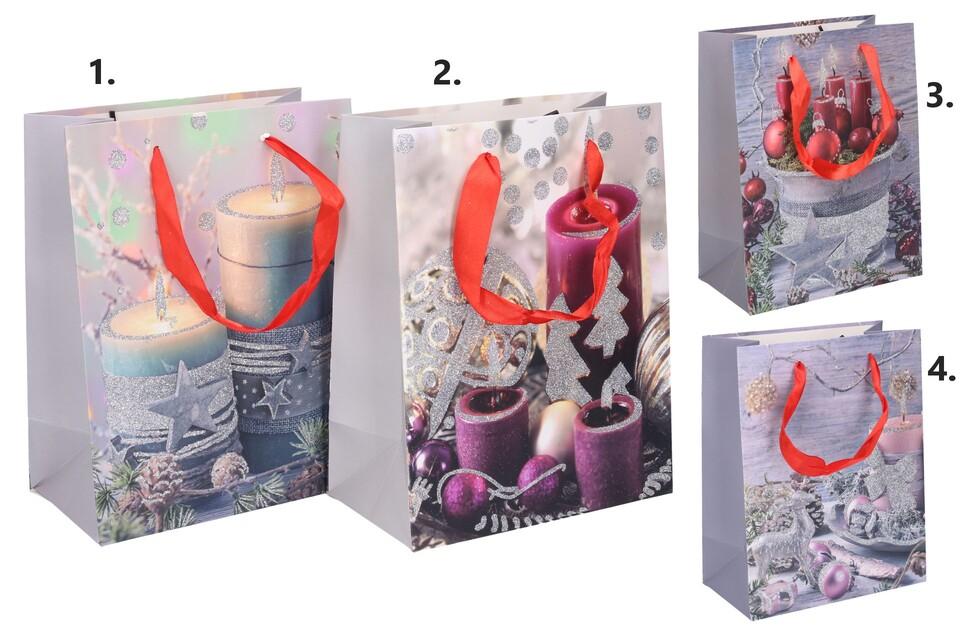 Vianočná darčeková taška 23x18x10cm