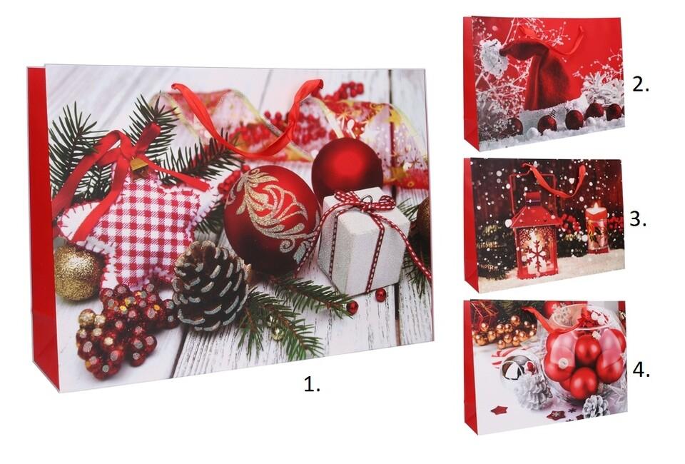 Vianočná darčeková taška 55x40x15cm