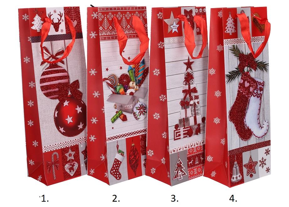 Vianočná darčeková taška 36x12x8cm