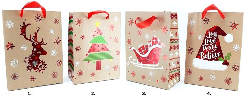 Vianočná darčeková taška 23,5x17,5x8cm