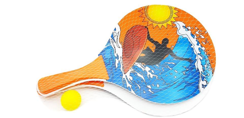 Plážový tenis Beach Ball 38cm - oranžová
