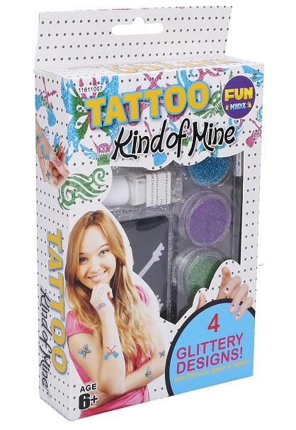Tetovanie s trblietkami pre dievčatá
