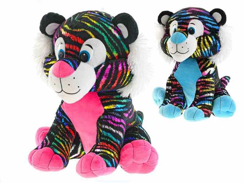 Tiger plyšový Star Sparkle 24cm - modrá