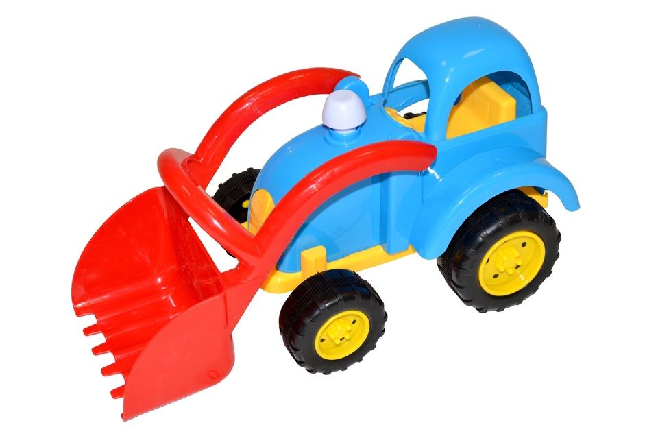Traktor 30cm - modrá