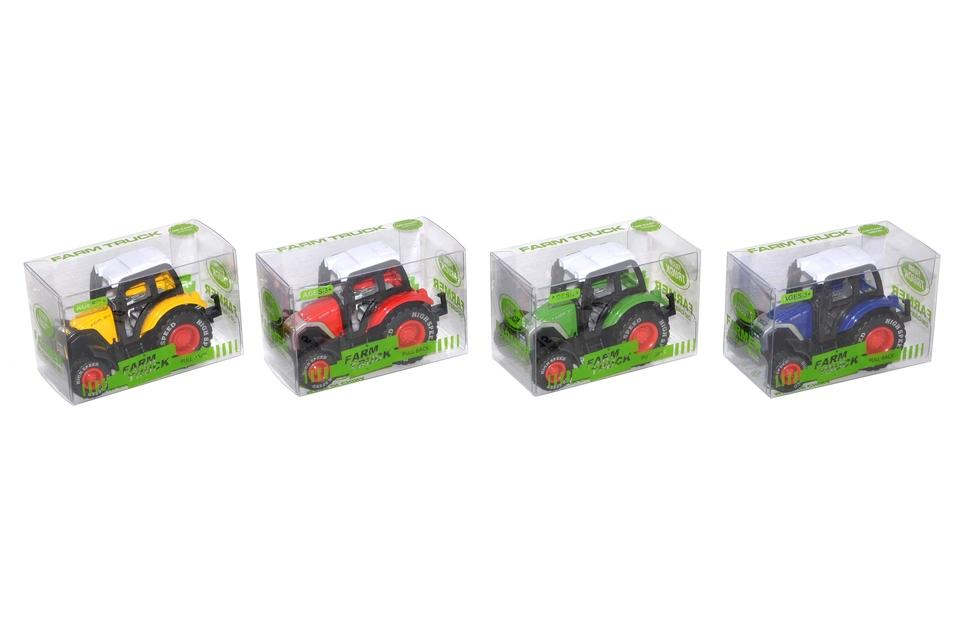 Traktor 7cm - červená