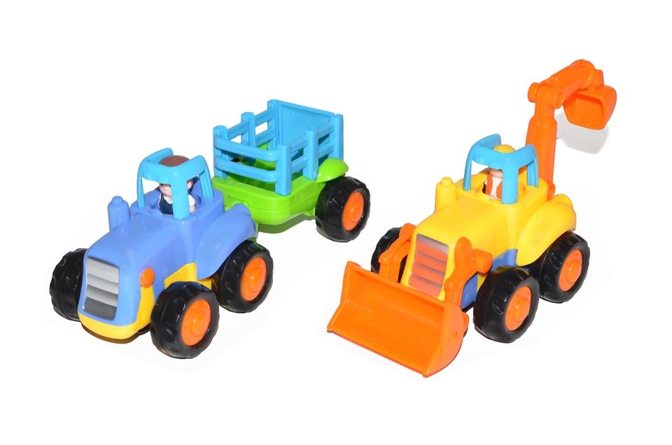 Traktor a bager 17cm - traktor