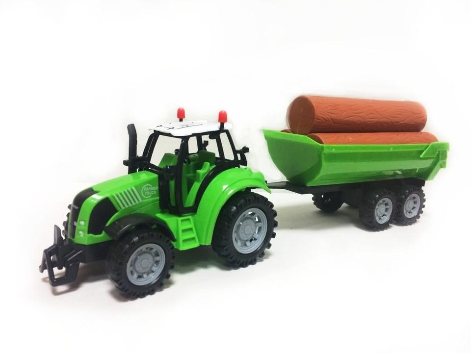 Traktor s vlečkou 40cm - biela