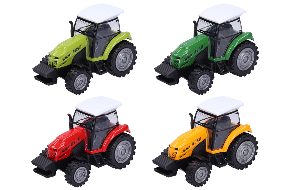 Traktor kovový 10,5cm - tmavo zelená