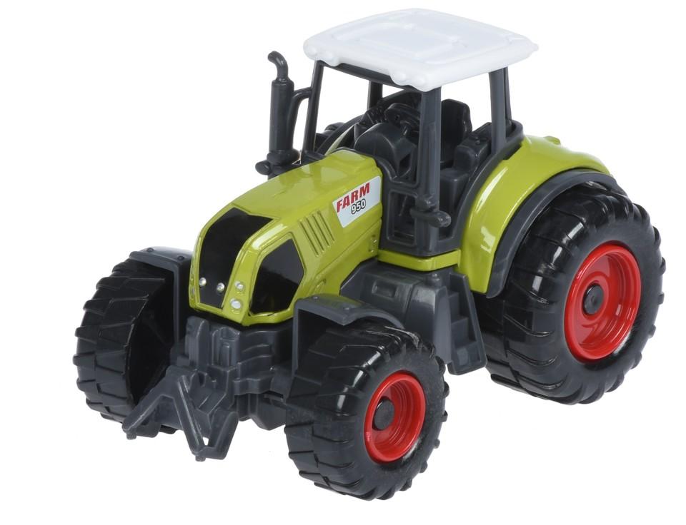 Traktor kovový 9cm - zelená