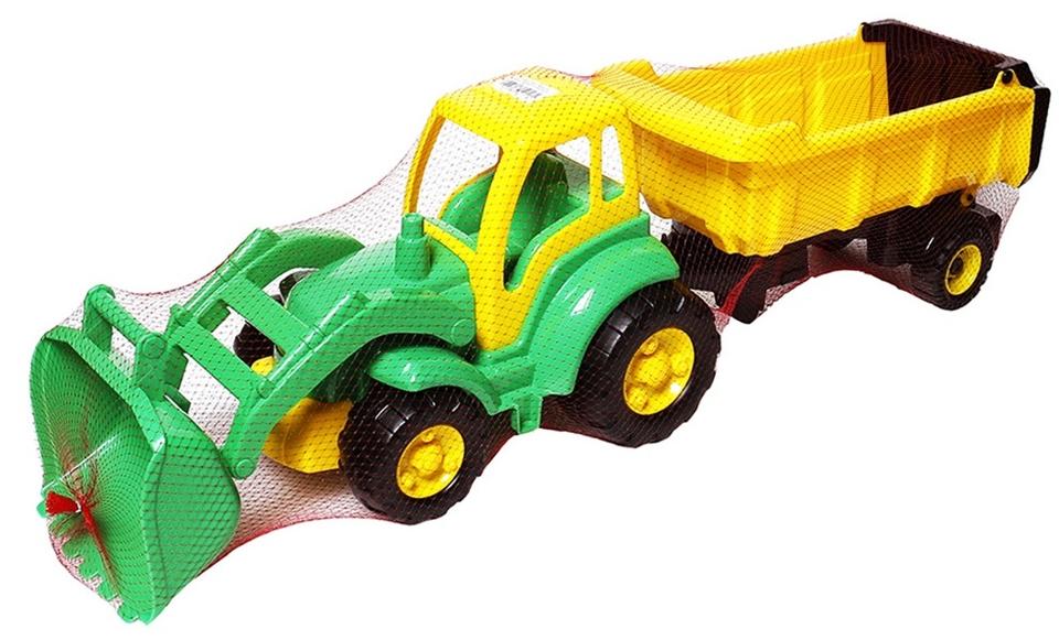 Traktor Šampión nakladač s prívesom 86cm - náhodná