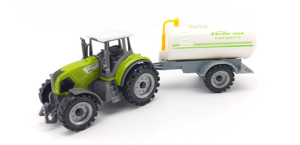 Kovový Traktor s postrekom 17cm