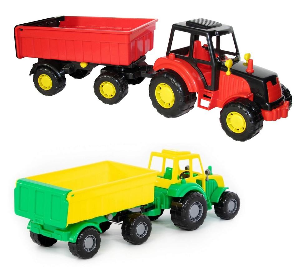 Traktor s prívesom 41cm - náhodná