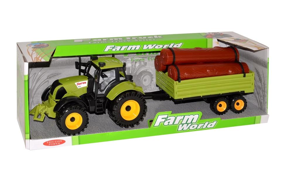 Traktor s vlečkou 45cm - náhodná